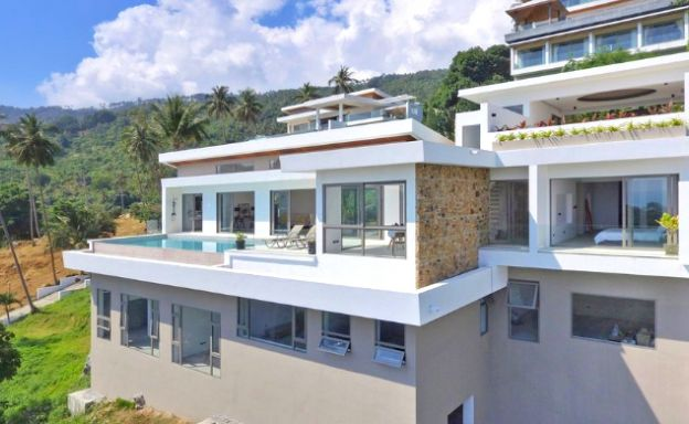 Contemporary 4 Bed Sea View Villa on Chaweng Noi