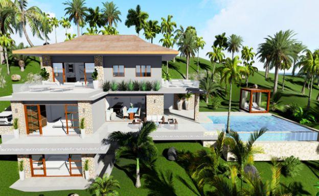Tropical Modern 4 Bed Sea view Villa by Chaloklum Bay
