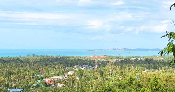 Panoramic Sea view Land for Sale on Ban Tai Hillside-3