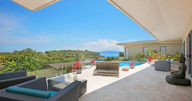 Sumptuous 4 Bed Sea view Villa by Plai Laem Beach-17