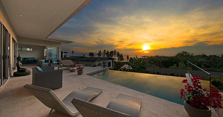 Sumptuous 4 Bed Sea view Villa by Plai Laem Beach-21