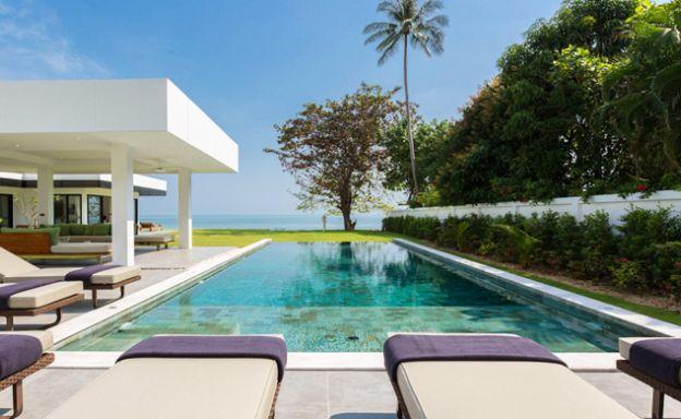 Beachfront 7 Bed Villa on Peaceful Laem Sor Beach