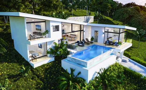 Modern Design 3 Bed Sea View Villas in Choeng Mon