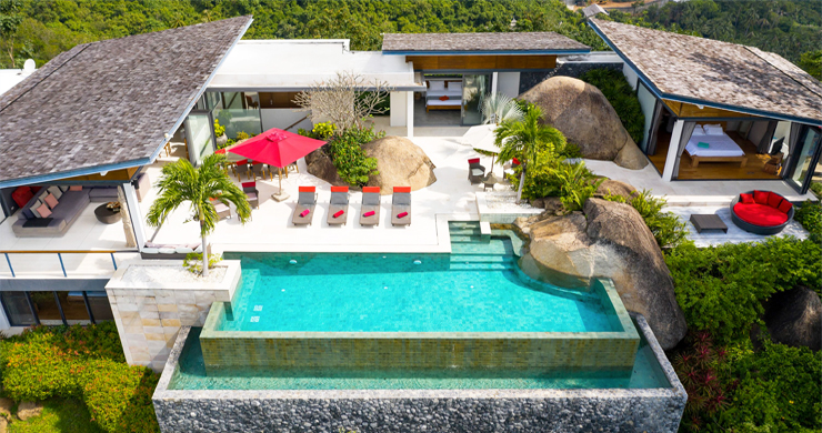 Gorgeous 5 Bed Luxury Sea view Villa in Taling Ngam-21
