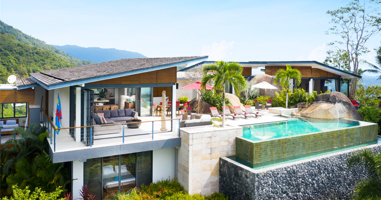 Gorgeous 5 Bed Luxury Sea view Villa in Taling Ngam-23
