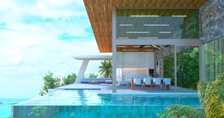 Contemporary 3-Bed Sea view Villas by Chaweng Noi-5