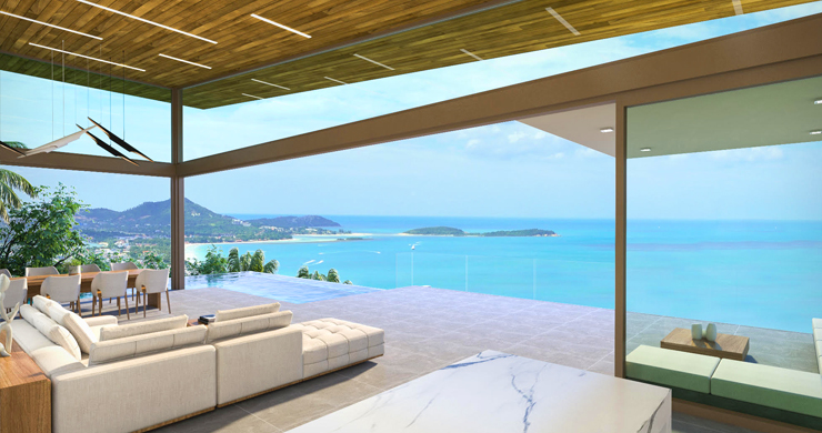 Contemporary 3-Bed Sea view Villas by Chaweng Noi-3