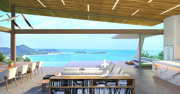 Contemporary 3-Bed Sea view Villas by Chaweng Noi-4
