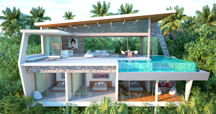 Contemporary 3-Bed Sea view Villas by Chaweng Noi-2