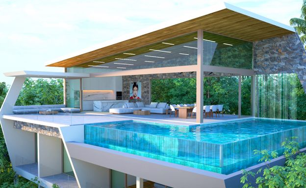 Contemporary 3-Bed Sea view Villas by Chaweng Noi