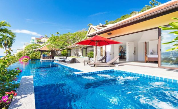 Modern 4 Bed Sea View Pool Villa for Sale in Phuket