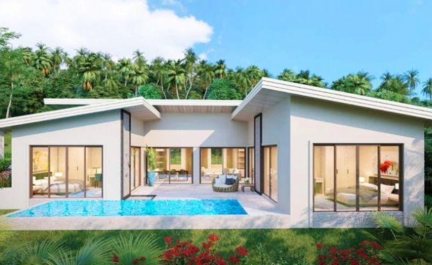 New Modern 3 Bed Sea-view Villas on Bang Por Hills