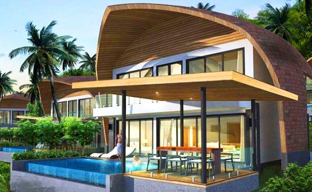 New Modern 2-3 Bedroom Sea-view Villas in Lamai