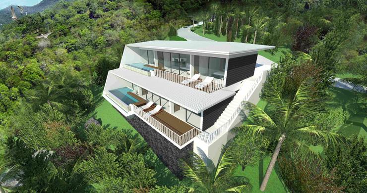 Modern 1 Bedroom Sea View Pool Apartments in Lamai-14