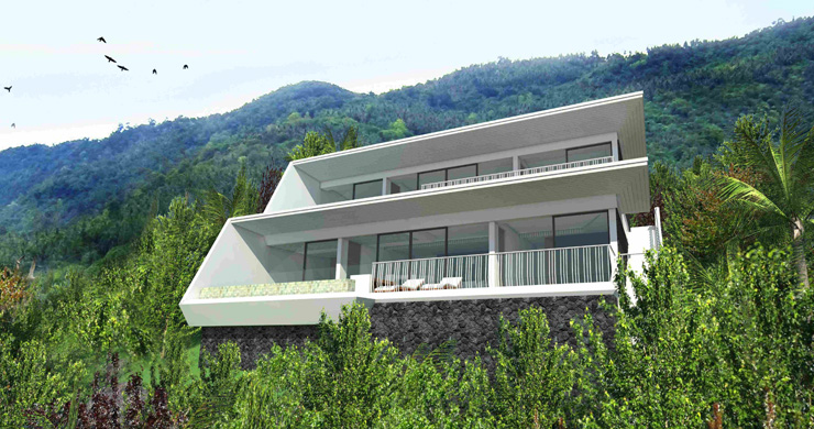 Modern 1 Bedroom Sea View Pool Apartments in Lamai-10