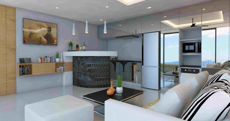 Modern 1 Bedroom Sea View Pool Apartments in Lamai-5