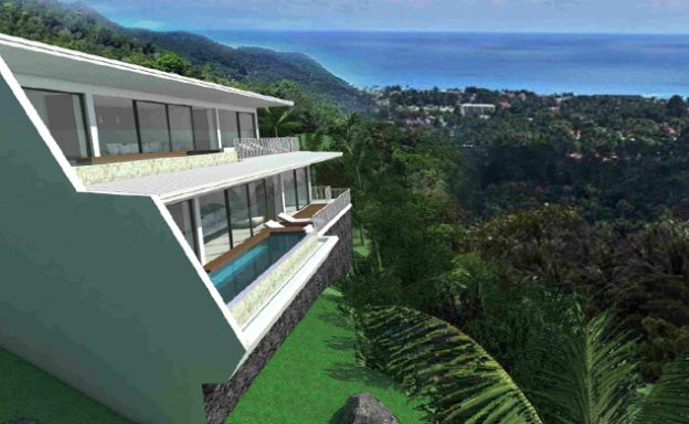 Modern 1 Bedroom Sea View Pool Apartments in Lamai