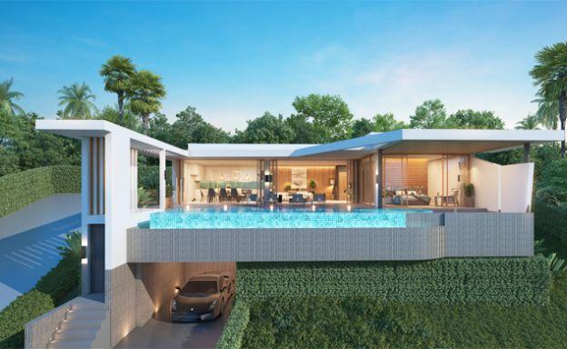 Ultra-Modern 3 Bed Luxury Sea view Villas in Bophut