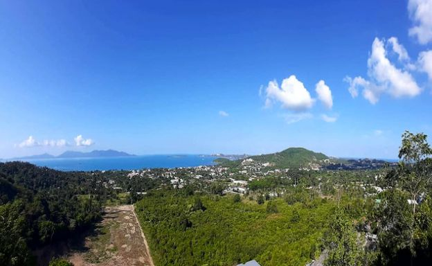 Panoramic Sea view Land for Sale on Bophut Hillside