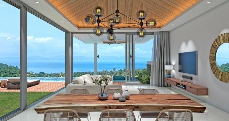 New Luxury 4 Bed Bali Sea-view Villas in Bophut Hills-8