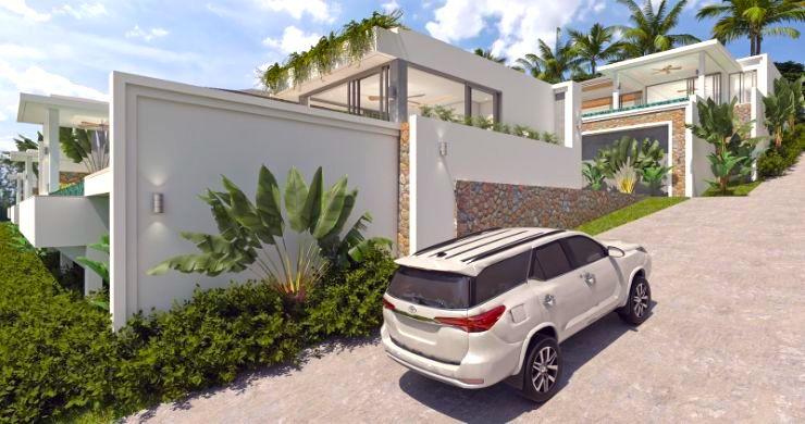 New Luxury 4 Bed Bali Sea-view Villas in Bophut Hills-3