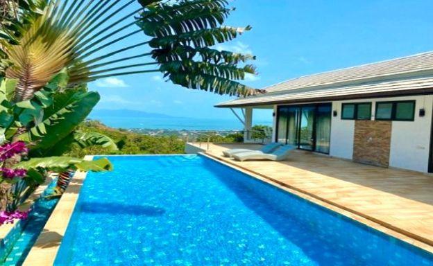 Tropical 5 Bedroom Sea-view Villa on Bophut Hills