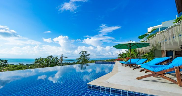 Charming 7 Bed Tropical Sea view Villa in Choeng Mon-13