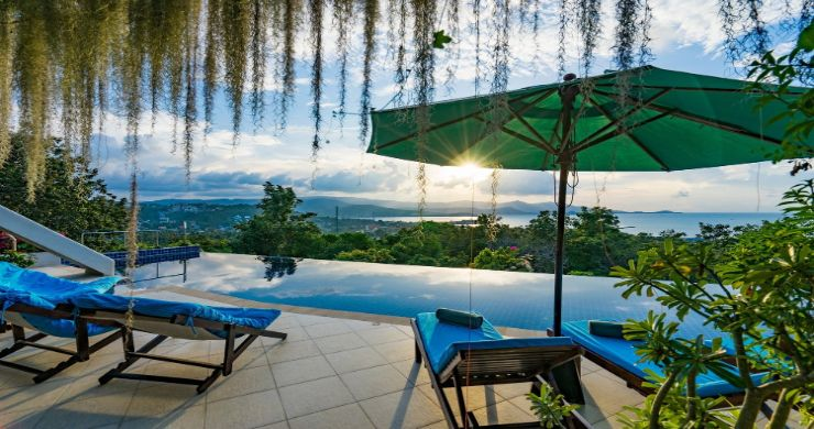 Charming 7 Bed Tropical Sea view Villa in Choeng Mon-24