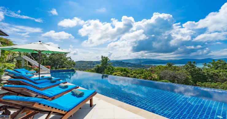 Charming 7 Bed Tropical Sea view Villa in Choeng Mon-8
