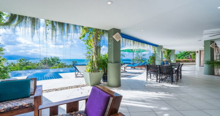 Charming 7 Bed Tropical Sea view Villa in Choeng Mon-5