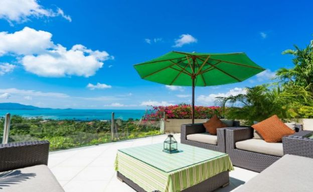 Charming 7 Bed Tropical Sea view Villa in Choeng Mon