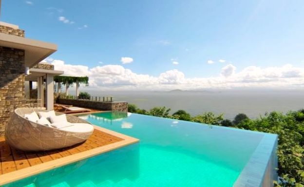 Luxury 4 Bed Modern Sea View Villas in Taling Ngam