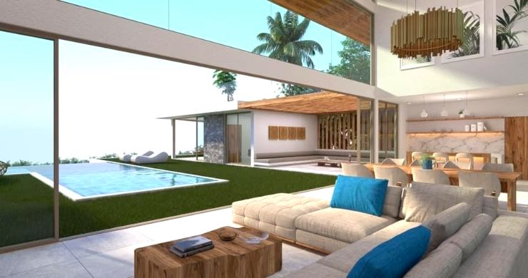 Gorgeous 4 Bed Luxury Sea View Villas in Chaweng Noi-2
