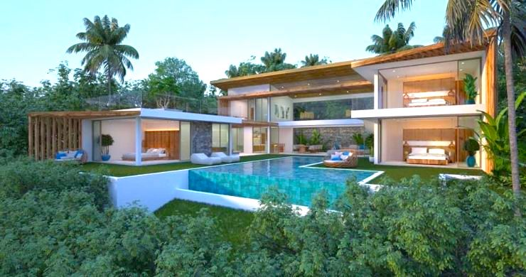 Gorgeous 4 Bed Luxury Sea View Villas in Chaweng Noi-11