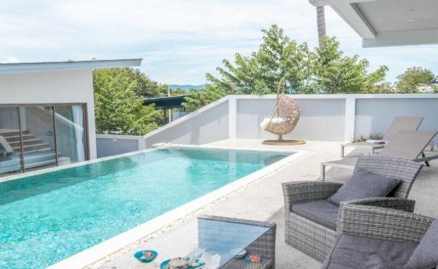 Beautiful 3 Bedroom Luxury Sea View Villa in Plai Laem