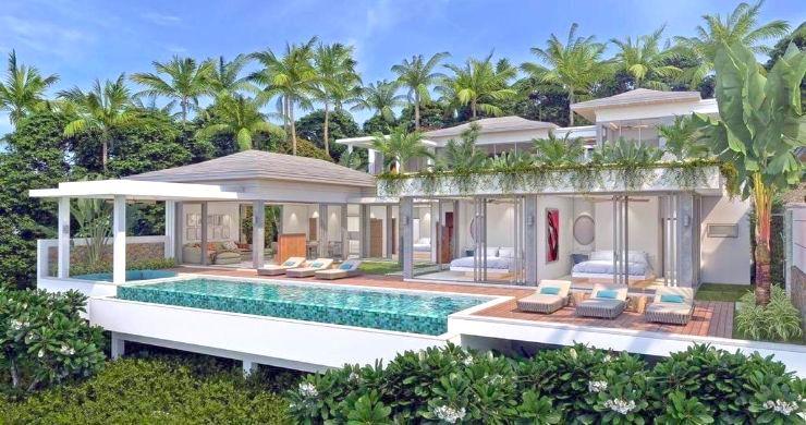 Luxury 3 Bed Bali Sea View Villas for Sale in Bophut-1