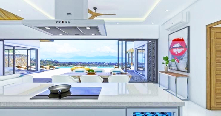 Luxury 3 Bed Bali Sea View Villas for Sale in Bophut-4