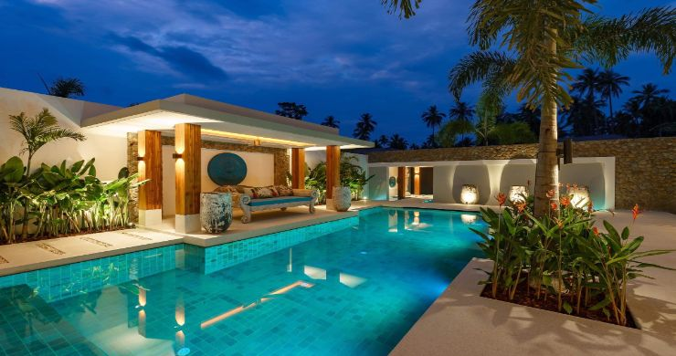 Luxury 3 Bed Bali Sea View Villas for Sale in Bophut-20