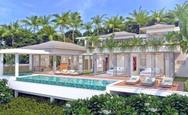 Luxury 3 Bed Bali Sea View Villas for Sale in Bophut