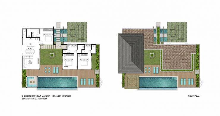 Luxury 3 Bed Bali Sea View Villas for Sale in Bophut-26