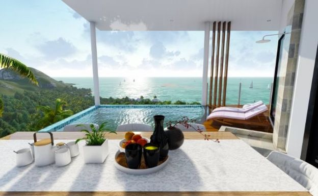 New Modern 3 Bedroom Sea View Apartments in Lamai