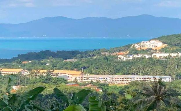 Good Sea View 800 sqm Land Plot for Sale in Bophut