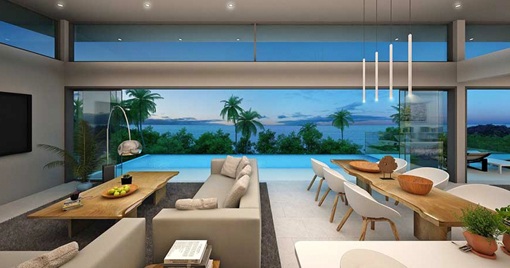 New Luxury 3-Bed Sea view Villas on Chaweng Noi Bay-16