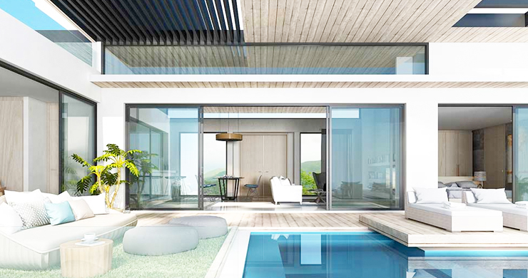 New Luxury 3-Bed Sea view Villas on Chaweng Noi Bay-2