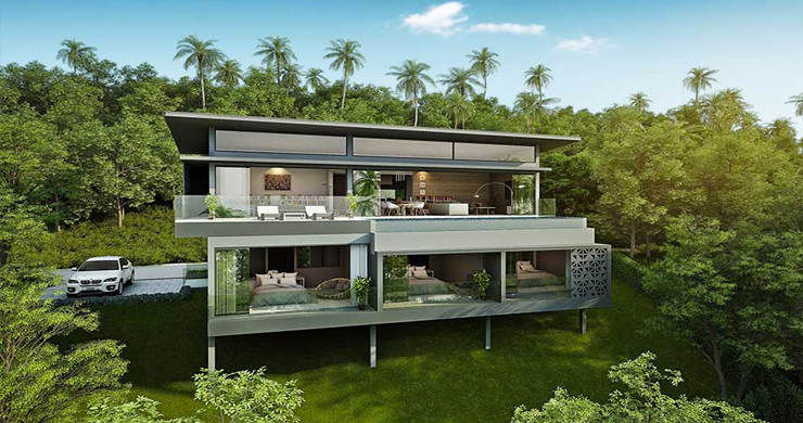 New Luxury 3-Bed Sea view Villas on Chaweng Noi Bay-1