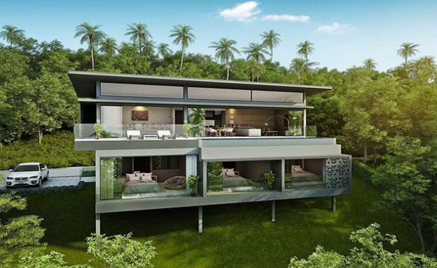 New Luxury 3-Bed Sea view Villas on Chaweng Noi Bay