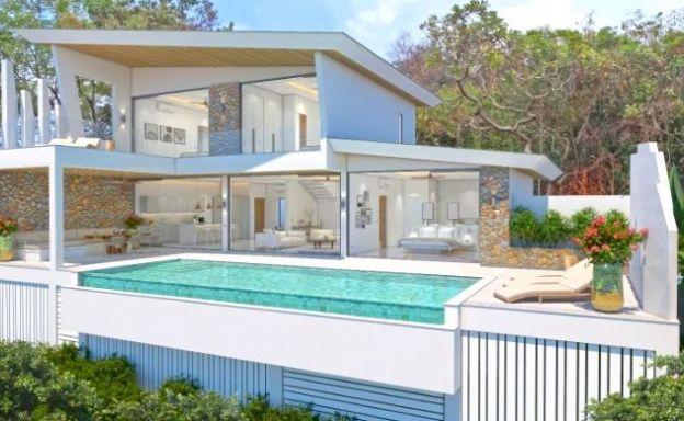 Contemporary 3 Bed Luxury Sea View Villas in Bophut