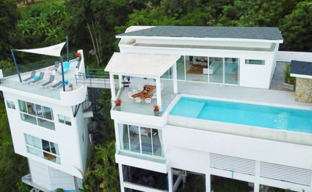 Modern 5 Bed Panoramic Sea View Villa in Chaweng
