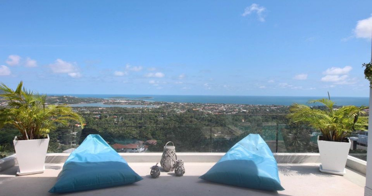 New 3 Bed Modern Sea View Villa in Chaweng Hills-15