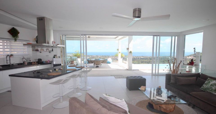 New 3 Bed Modern Sea View Villa in Chaweng Hills-6